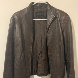 EXPRESS - Brown faux leather jacket
